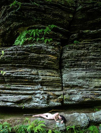 Waterfall, Hocking Hills State Park, Ohio Art Print